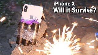 iPhone X Fireworks Explosion Test - Will it Survive?