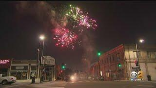 Illegal Fireworks Light Up Sky Over Boyle Heights In Neighborhood Tradition