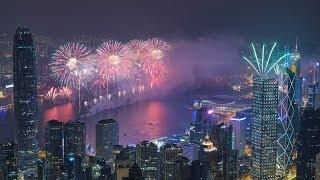 Hong Kong's fireworks show to celebrate Lunar New Year