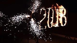 Горящие цифры и холодные фонтаны на Новый год в Ростове | GOF show