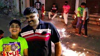 Deepavali rehearsal | bursting crackers of Lima Fireworks