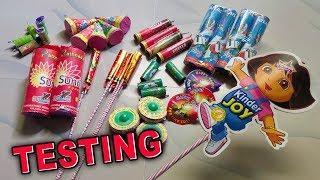 Testing Most Unique Diwali Fireworks stash 2019 | Firecrackers testing | Diwali crackers testing