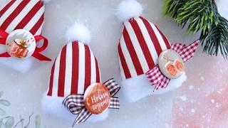 DIY Шьем простые Елочные игрушки шапочки /новогодние игрушки своими руками