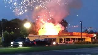 Fireworks Store Catches Fire on the 4th of July || ViralHog