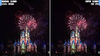[SUPER SLOMO] Walt Disney World Magic Kingdom Fireworks 8x SLOMO