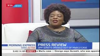 Press review: Fireworks at Mwilu's trial after her lawyers reject QC Khawar Qureshi