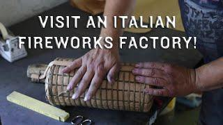 Visit an Italian Fireworks Factory - Big multi-break canister shells and bottom shots - dry wrap