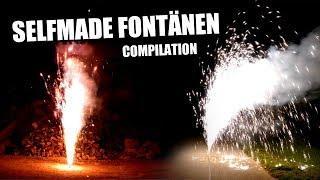 32x SELFMADE Fontänen COMPILATION / homemade fireworks compilation [HD]