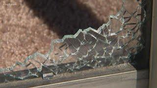 Everett family's patio door blown out by fireworks