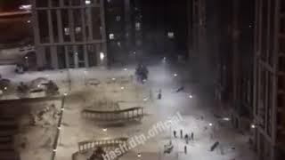 Обстрел фейерверками в Уфе