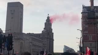Fireworks from the Liver Building in Liverpool, CL Winners '19!!!!
