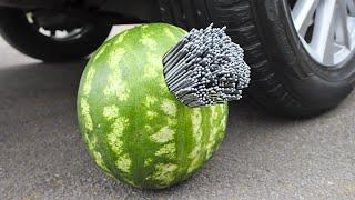 Experiment Car vs 1000 Sparklers vs Watermelon | Crushing Crunchy & Soft Things by Car!