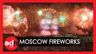 Spectacular Fireworks Display Over Moscow Marks Victory Day in Russia