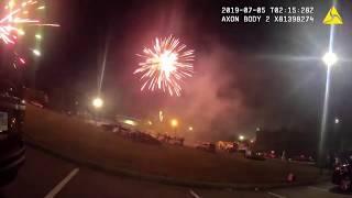 Bodycam footage of fireworks fight outside of Little Rock