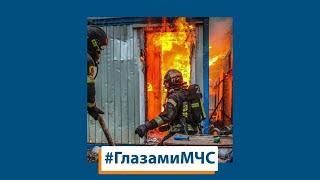 ГЛАЗАМИ МЧС: пожар на рынке г. Смоленска