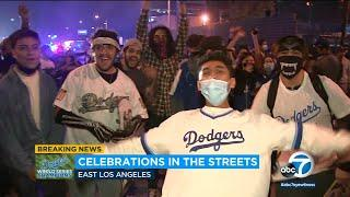 Angelenos set off fireworks, celebrate in streets after Dodgers win World Series | ABC7