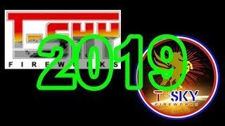 American Fireworks 2019 Demo: Part 4 - T-Sky Fireworks (500 Gram Cakes)