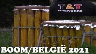 Vuurwerkshow tot 6'' in BOOM/Belgium 2021.(T&T-Fireworks)..vuurwerk