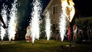 Just Fire   Пиротехнические фонтаны с сердцем   Новая Усмань   08.06.19