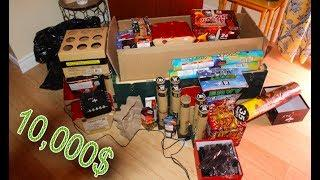 we spent 10,000$ on fireworks (INSANE)