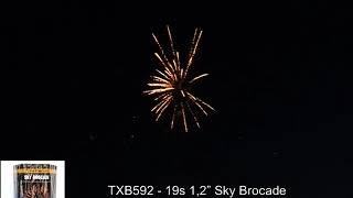 "Fajerwerki TXB592 Sky Brocade 19s 1 2"" Triplex"