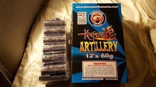 King slayer 60g canister shells Dominator fireworks demo