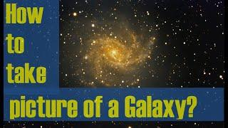 Astrophotography - How to take picture of Galaxy?  Step-by-Step Instructions - Fireworks Galaxy
