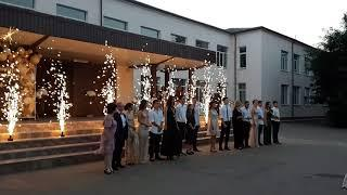 Холодные фонтаны на выпускной вечер в Одессе. Школьный выпускной в Одессе.