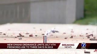 New Omaha ordinance limits July 4 fireworks use to 3 days in 2019