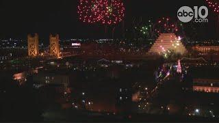 RAW: New Year's Eve Sky Spectacular fireworks show from Old Sacramento