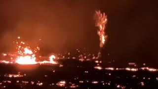 NEW CONE THAT SHOOTS LAVA FIREWORKS spotted next to volcano on 14.09.21