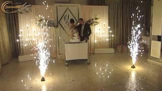Пушка конфеті на перший танець та холодні фонтани  розрізання торту Біла Церква Весілля Спецефекти