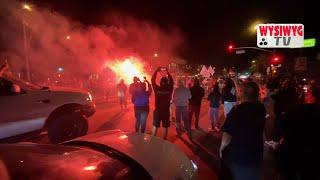 LIVE #irl Dodgers VICTORY celebration in Pacoima CA. Fireworks and street takeover on Van Nuys Blvd.
