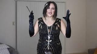 Aliexpress Плюс Размеры Гэтсби Хлопушки платье Винтаж Для женщин 1920 S костюм без рукавов с v-образ
