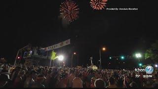 Honolulu Marathon fireworks