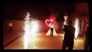 Холодные фонтаны на свадьбу, пиротехника на свадьбу