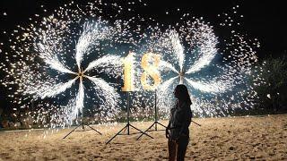 Пиротехнические цифры на день рождения в Ростове | GOF show