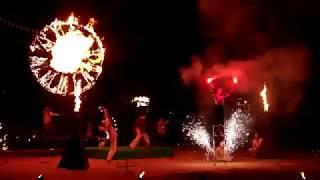 [stilts] Пиротехника на ходулях Театр Экс