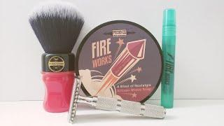 Head Shave of the Day - Razorock Game Changer, Phoenix Artisan Accoutrements Fireworks