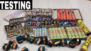 Testing different types of crackers testing | diwali fireworks testing | new diwali crackers 2019