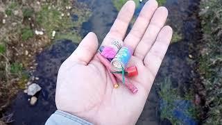 Разные петарды в речке