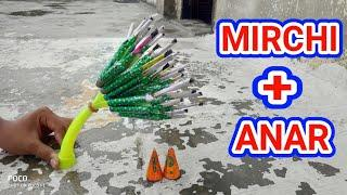 Diwali fireworks cracker experiment in hindi2019/Mirchi and anar experiment/Diwali stash||CY