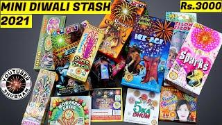 DIWALI STASH 2021 Mini - Fireworks & Crackers with Sky-Shots worth Rs.3000