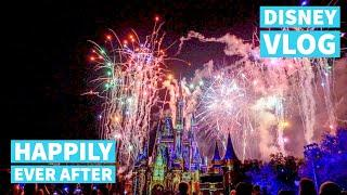 Tony's Town Square Restaurant + Happily Ever After Fireworks | Disney World July 2019