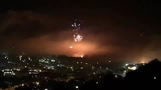 Bonfire Lewes 2018 gulf course full fireworks