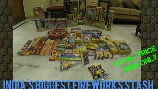 India's Biggest Fireworks Stash|Diwali Crackers Stash 2018|Anar,Sky Shots,Rockets,Chakri|