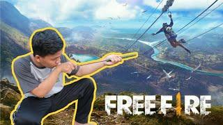 Membuat SHOTGUN FREE FIRE real Life