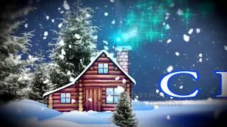 заставка ИЗБУШКА НОВОГОДНИЙ УТРЕННИК В ДЕТСКОМ САДУ ЗИМА СНЕЖОК 2020 футаж  HD бесплатно Christmas