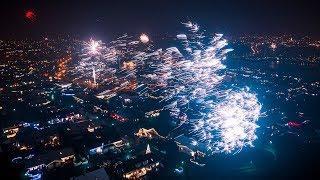 Reykjavik Iceland New Years Eve 2020 FIREWORKS | 4K Drone Footage