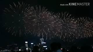 Hong Kong National Day fireworks display 2018